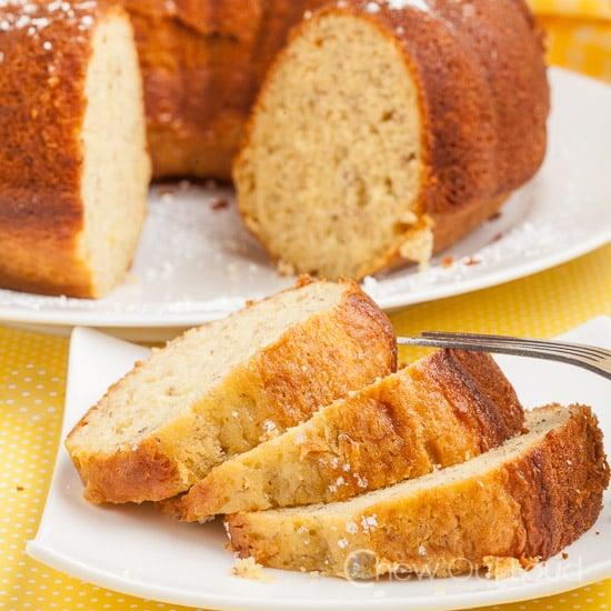 banana cake, banana pudding cake, banana bundt cake
