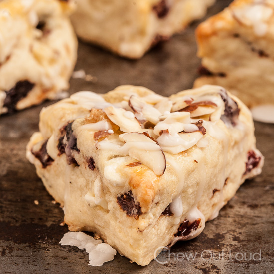 Berry Almond White Chocolate Scones
