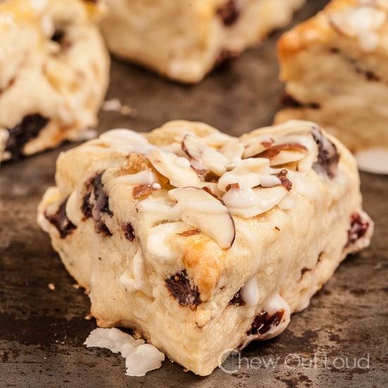 Berry Almond White Chocolate Scones