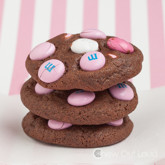 Chocolate Chocolate M&M Cookies