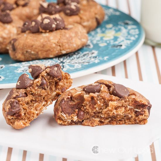 Flourless Peanut Butter Oatmeal Breakfast Cookies