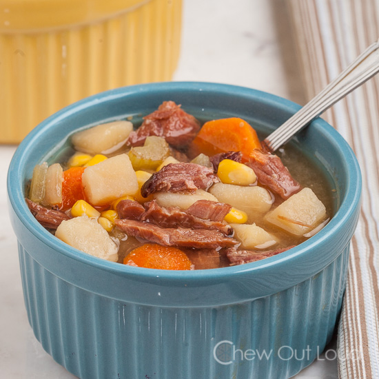Ham Potato Vegetable Soup
