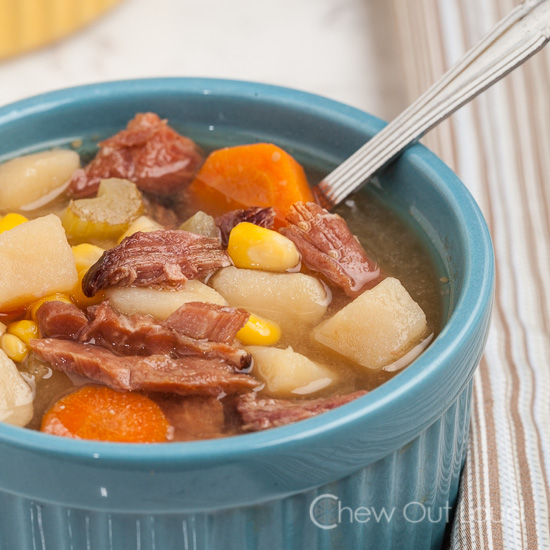 Ham Potato Veggie Soup
