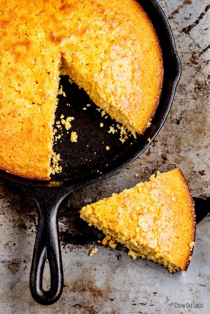 honey cornbread, sweet cornbread, skillet cornbread