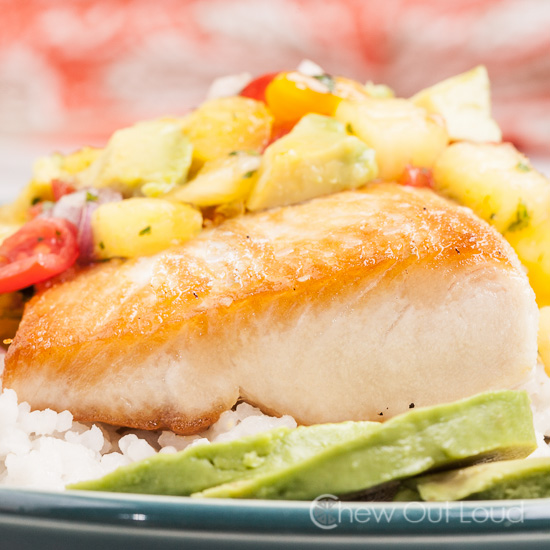 Pan Fried Mahi Mahi with Tropical Salsa