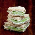 cucumber sandwiches with cream cheese and lemon