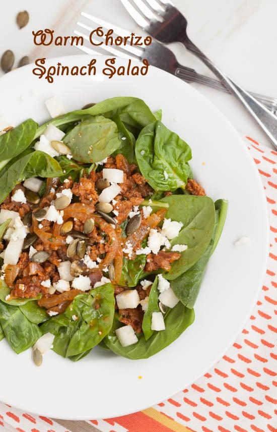 Chorizo Spinach Salad