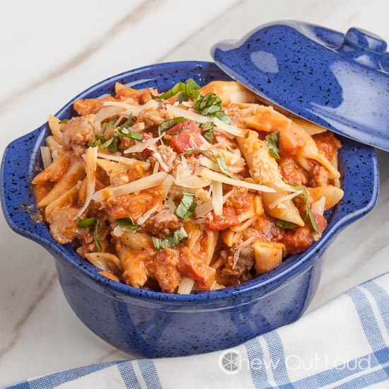 Penne with Sausage and Vodka Sauce