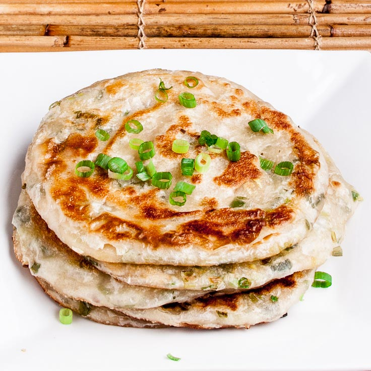 stack of scallion pancakes
