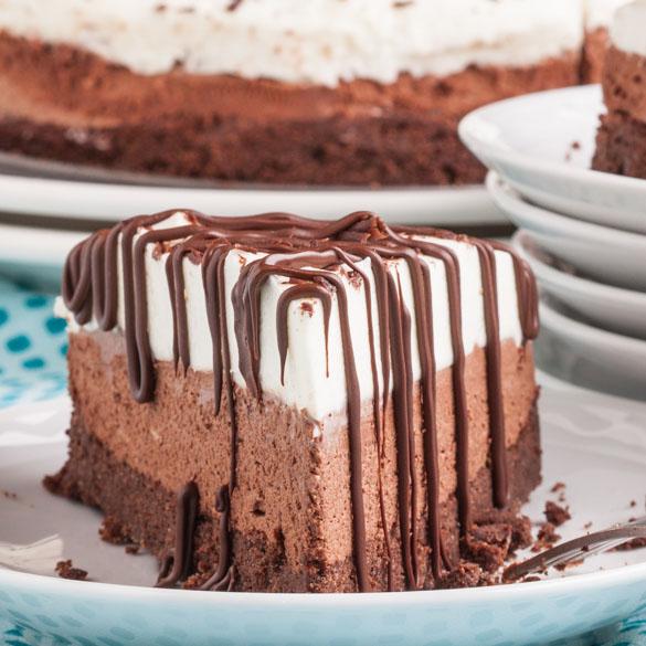 Triple Chocolate Mousse Cake 4