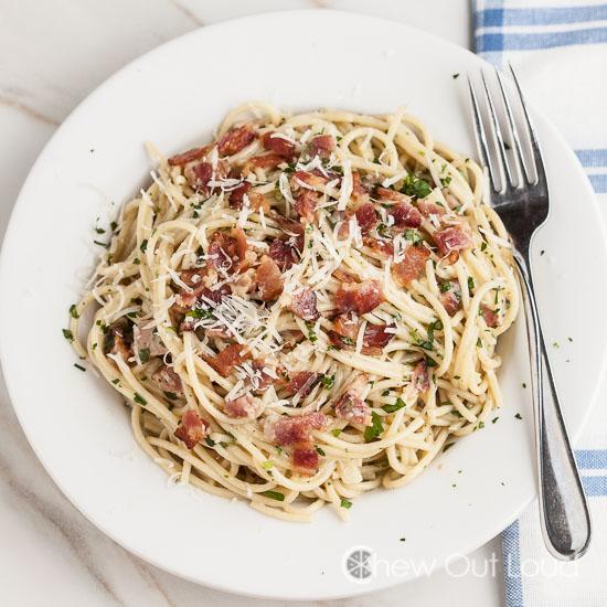 Easy 'n quick spaghetti carbonara