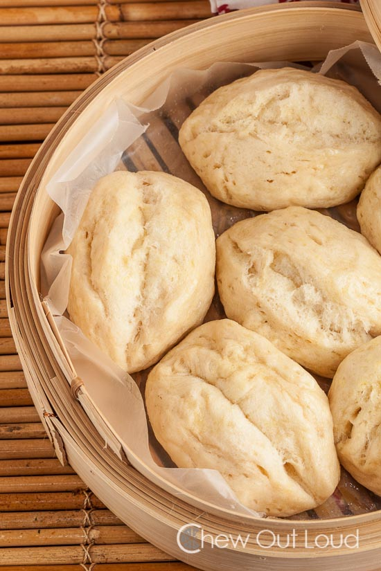 Quick Easy Steamed Buns (mantao)