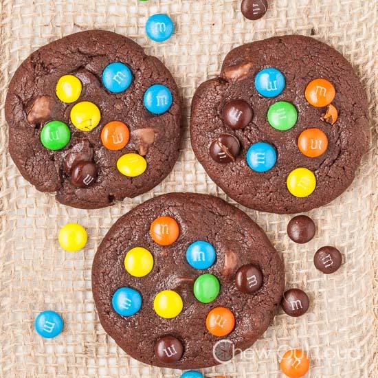Triple Chocolate M&M Cookiefs