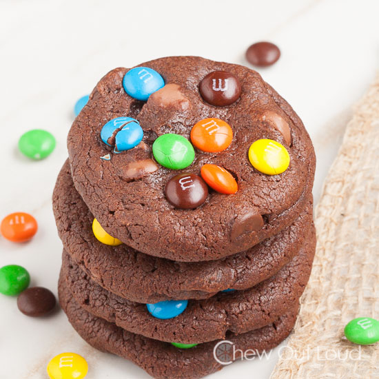 Triple Chocolate M&M Cookies 2