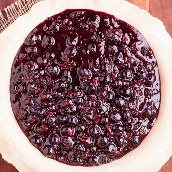 Blueberry Pie Unbaked