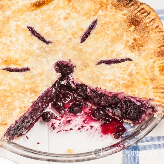 Blueberry Pie butter flaky crust