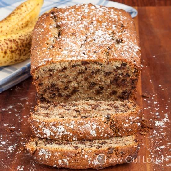 Banana chocolate Ricotta Bread