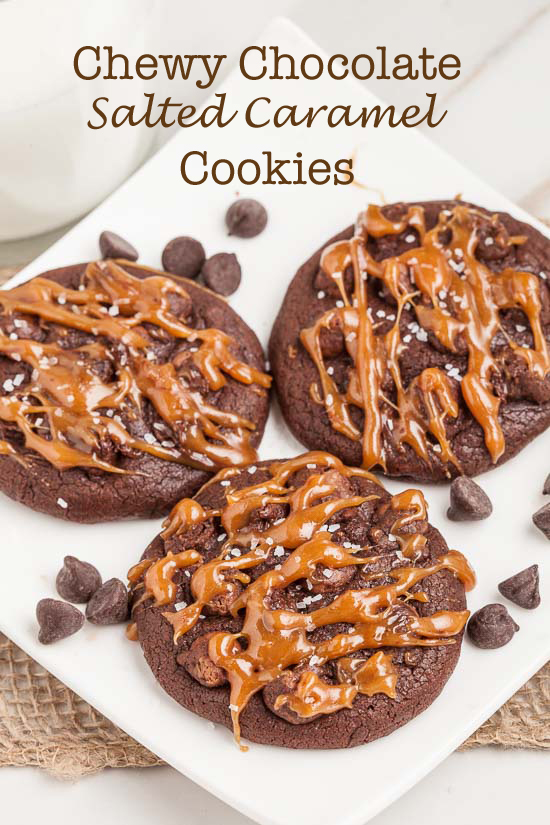 Double chocolate salted caramel cookies