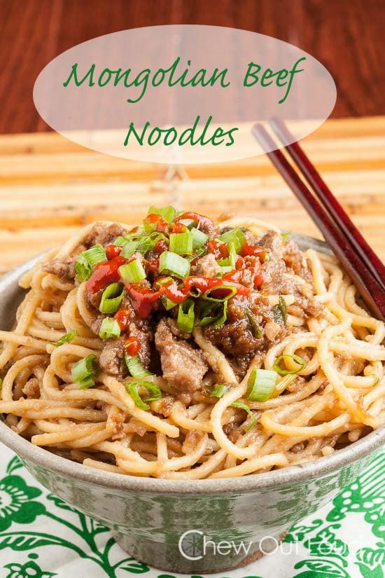 Mongolian Beef Noodles