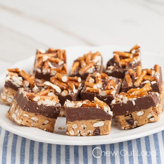 PB Chocolate Pretzel Bars