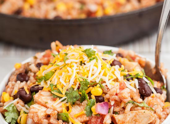 Tex Mex Chicken Burrito Bowl