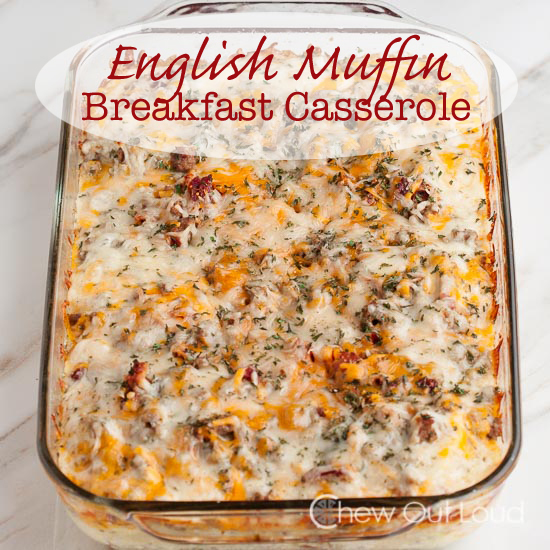 English Muffin Breakfast Casserole, brunch recipes