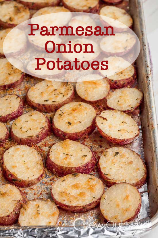 parmesan onion roasted potatoes, best potato recipes