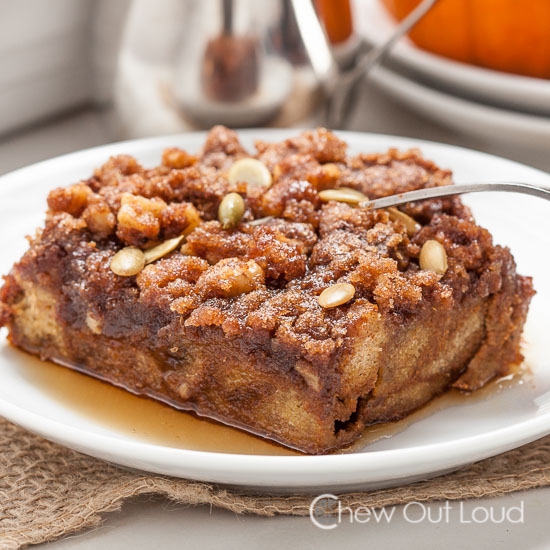 Pumpkin French Toast Casserole 6