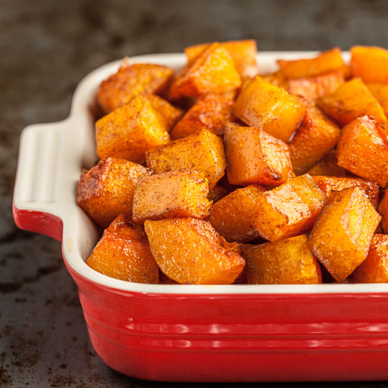 Cinnamon Roasted Butternut Squash | Thanksgiving Side Dishes | Homemade Recipes