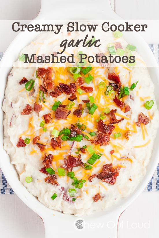 slow cooker garlic mashed potatoes, best potato recipes