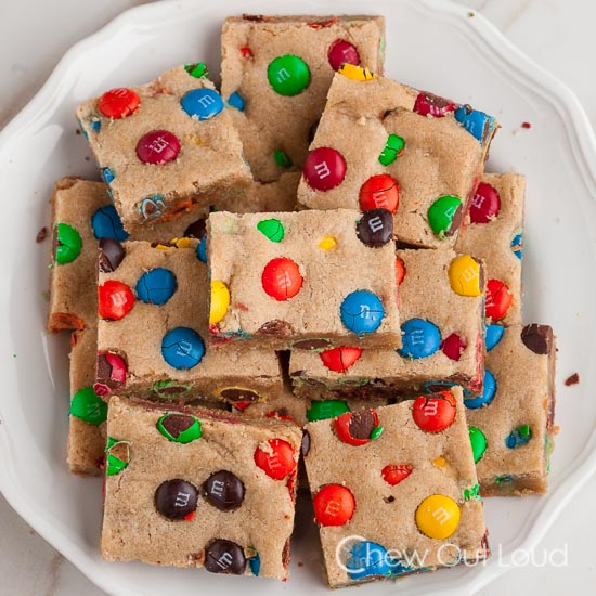 M&M Cookie Bars 2