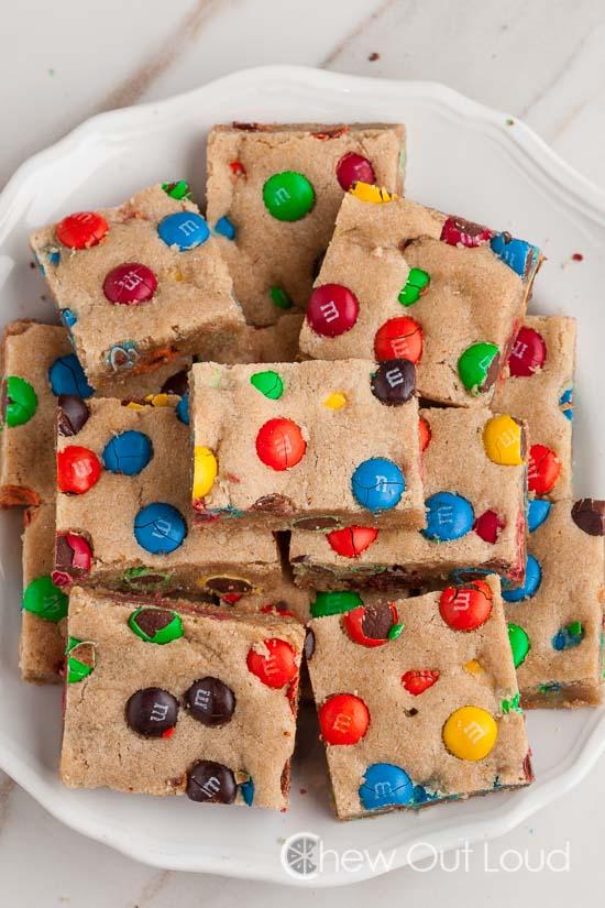 M&M Cookie Bars 3