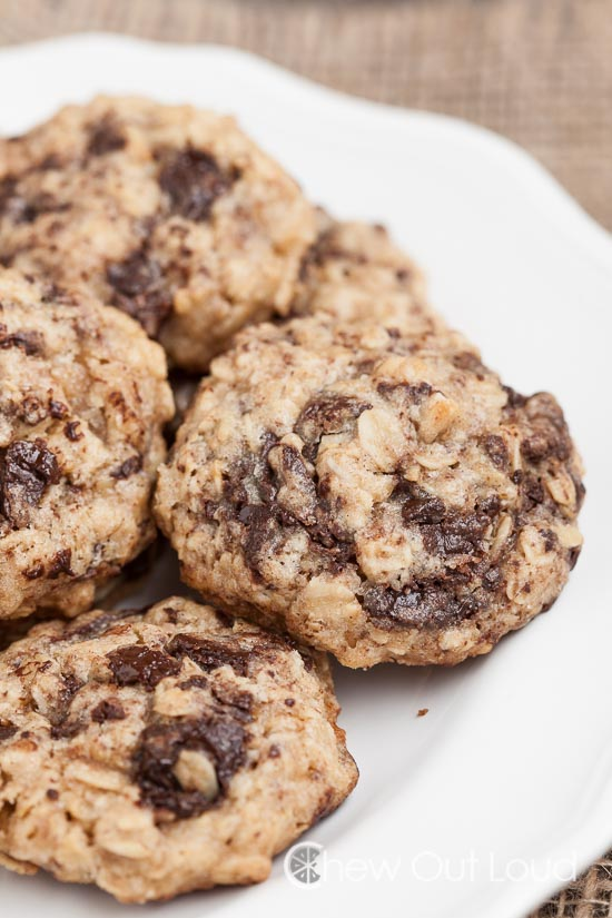 Thick Chewy Oatmeal Dark Chocolate Cookies 2