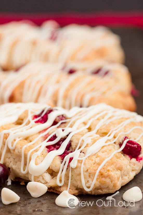 White chocolate cranberry scones 2