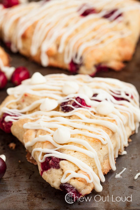 white chocolate cranberry scones 5