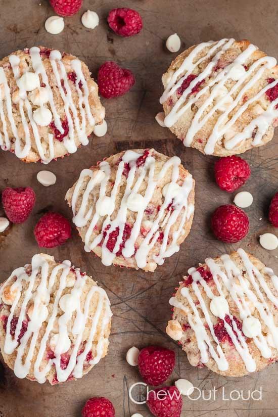 white chocolate raspberry muffins 3