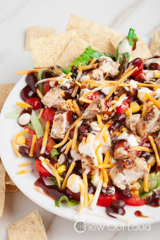Bbq Ranch Chopped Chicken Salad Chew Out Loud