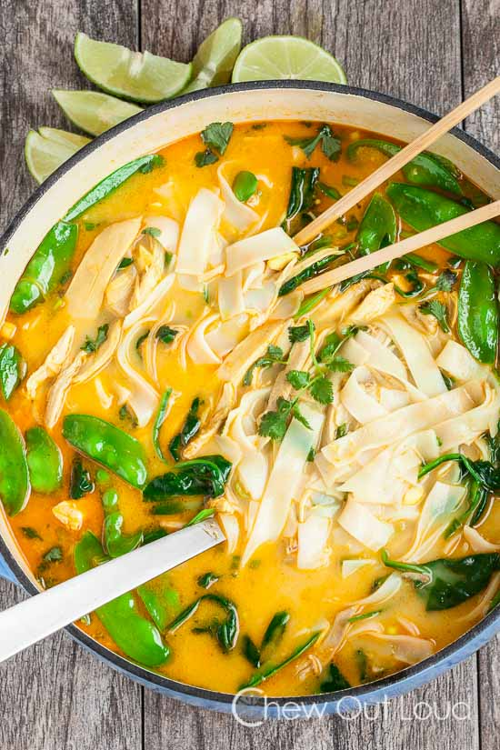 Coconut Curry Chicken Noodle SoupChew Out Loud