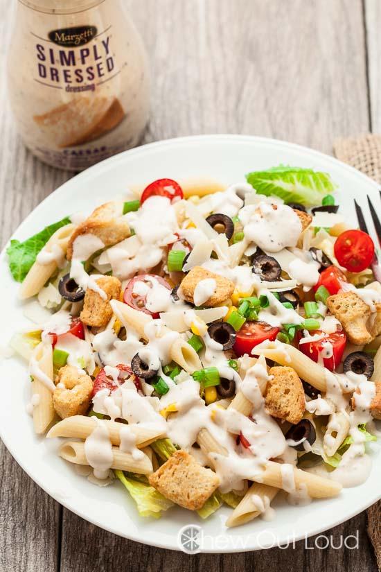 Easy Caesar Pasta Salad