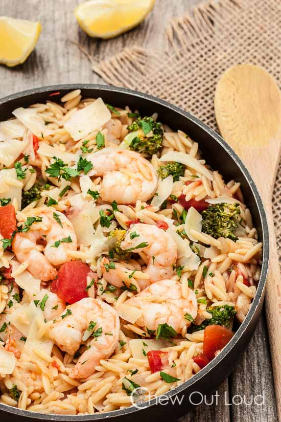 One Pot Lemon Orzo with Shrimp 2