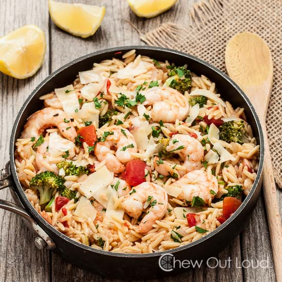 One Pot Lemon Orzo with Shrimp 4