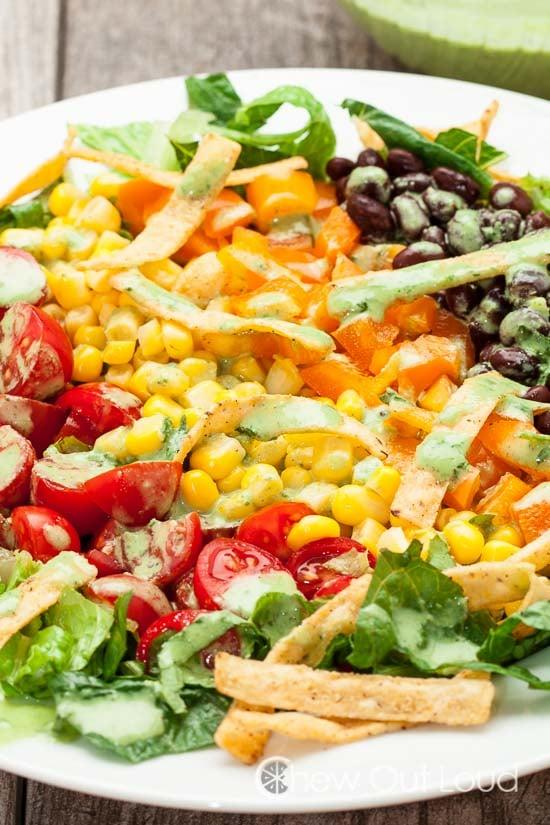 Southwestern Chopped Salad Cilantro Lime Dressing