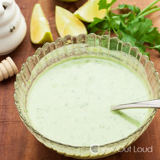 Southwestern Chopped Salad Creamy Cilantro Lime Dressing