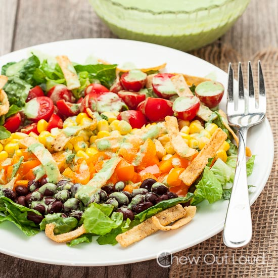 Southwestern Chopped Salad with Cilantro Lime
