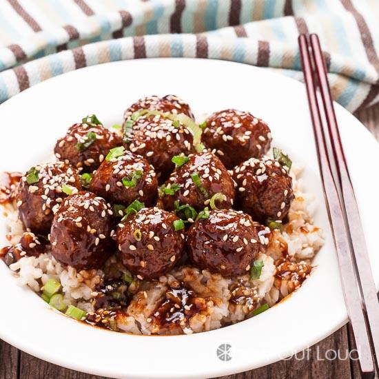 Easy Asian Glazed Meatballs 3