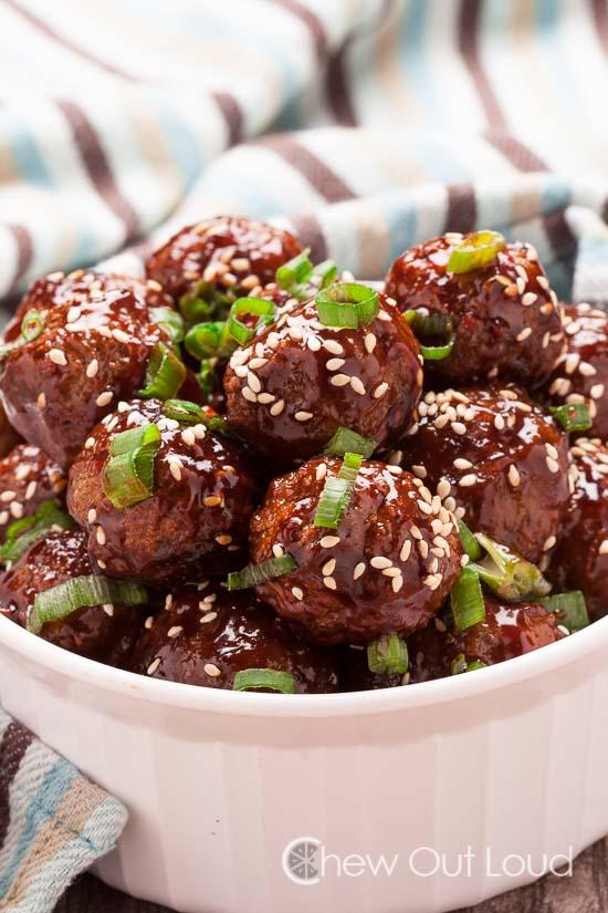 Easy Asian Glazed meatballs 2