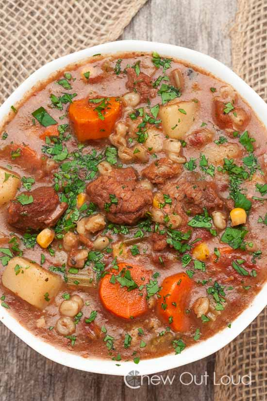 beef veggie barley stew