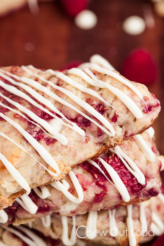 white chocolate raspberry scones 5