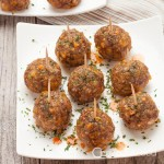 sausage meatballs on plate