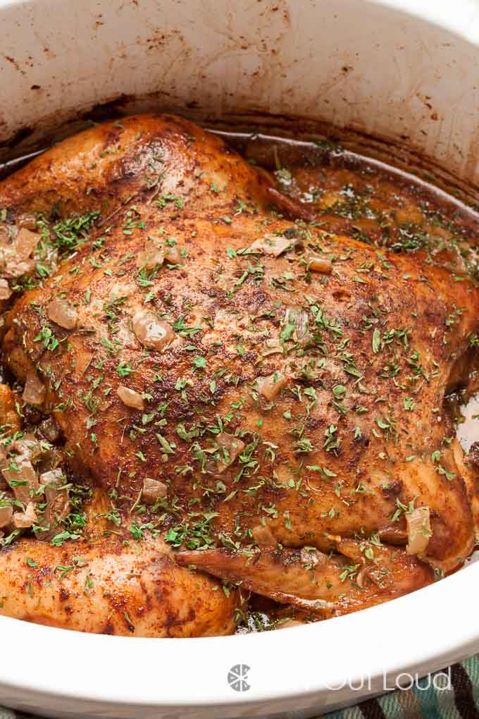 Whole chicken slow cooker recipes easy